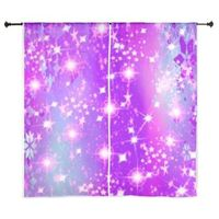 purple sparkles curtains