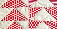 Mini Quilt of the Month, July: FlyingGeese - Knitting Crochet Sewing Crafts Patterns and Ideas! - the purl bee