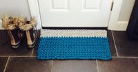 Inspiration Only - Modern Crochet Rope Rug, Kitchen Mat. Door Mat, Floor Mat