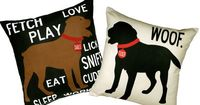 Personalized Pet pillow with your dog's name by WestEggStudio on Etsy, $80.00