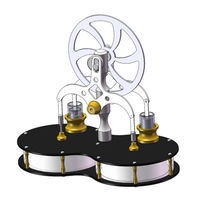 Peanut Shaped Stirling Double Cylinder Low Temperature Difference Engine Model Educational