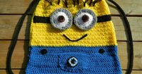 Dave the Minion Crochet Backpack