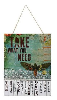 What do you need? (One of my favorite ideas ever.) :: This wall hanging from artist Kelly Rae Roberts comes with paper tear-off sheets so you can take what you need today.