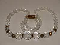 """Victorian Natural Hand Faceted Rock Quartz Crystal 18"""" Necklace. $82.75"""