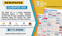 TheMediaCat is an online advertising platform that allows the user to publish their Business, Products, and Services. Now, you can easily place your display & Classified Ads in Newspaper via 3 online step booking process: Select Ad Type, Newspaper &am...