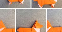 Make an origami corgi | How About Orange
