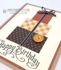 Stampin up stampinup stamp it masculine birthday card ideas holiday catalog square punch