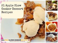 Enjoy fabulous apple slow cooker sweets throughout the fall and winter seasons with help from our collection, 21 Apple Slow Cooker Dessert Recipes. In this collection you'll find a variety slow cooker apple desserts to try, including slow cooker app...