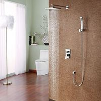 Contemporary Shower Faucet with 8 inch Shower head & Hand Shower