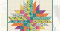 Astrodelic by Frances Newcombe - Free download from Art Gallery Fabrics