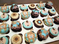 Boy Baby Shower Cupcakes by Cutie Cakes WY, via Flickr