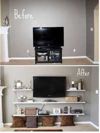 new way to style around a flat screen tv.