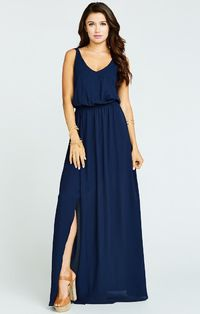 Kendall Maxi Dress ~ Rich Navy Crisp $173.07