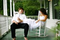 this picture on your wedding day and then every 5-10 years... so eventually you have one when you're both in your 70's/80's, sitting on the porch in rocking chairs :)