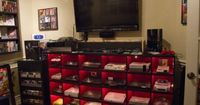 Gamer Room. Seems a little over the top but then again I'm not a gamer. At least it's organized.