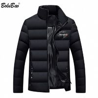 BOLUBAO Men's Winter Jackets Solid Color Outerwear Winter Fashion Padded Cotton $40.72