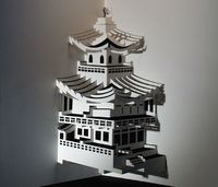 Though paper isn't ideal to build a sturdy structure to inhabit, it proves to be an excellent medium to produce exquisite representations of urban and exotic ar