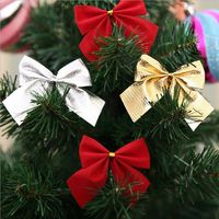 Pack of 10 Christmas Tree Ribbon Bow Appliques Different Colours. Clothing Xmas Crafts £3.69