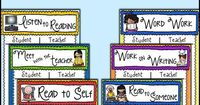 Daily 5 Anchor Chart Poster Freebie! I like these because they are NOT already filled out. You create them with your students.