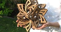 DIY How-To: Frabjous Cardboard Geometry Sculpture