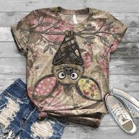 2020 NEW Hot Plus Size Women T-Shirt 3D Animal Printed Short Sleeve O-Neck Tops Tee tshirt femme woman ropa mujer