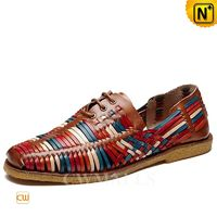 CWMALLS® Woven Leather Loafers for Men CW716406