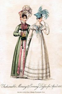 Morning & Evening Dresses, April 1818.