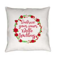 Inspired by the timeless 1939 movie Gone With the Wind. Embrace your inner Belle Watling. With voluptuous red floral decoration. By Scarebaby Design.