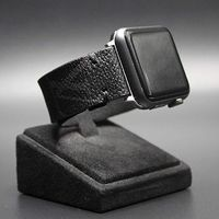 Handmade Apple Watch Band Re-Purposed Classic Black LV Monogram for Apple Watch Series 1, 2, 3, 4, 5 $125.00