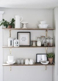 You NEED kitchen shelves in your life! Ready to modernize your home with open shelving in the kitchen? Here are eight easy ways to style your new kitchen shelve