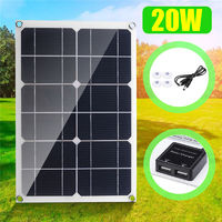 20W 6V 3A Portable Solar Panel Double USB Port Camping Hiking Cycling Traveling