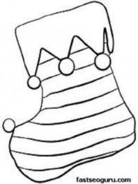 Printable coloring pages of christmas stocking with horizontal lines juletegninger on tree templates
