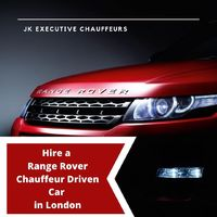 hire range rover chauffeur driven car in London.