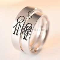 Gullei.com Cute Guy and Girl Promise Rings Set for Soulmates