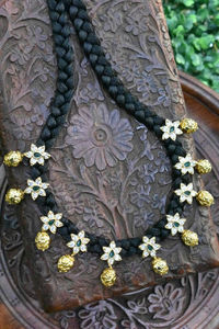 A beautiful simple traditional black Dori style necklace $175.00