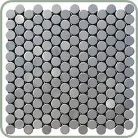 stainless steel penny tiles