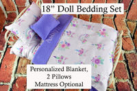 """18"""" Doll Bedding w Mattress 