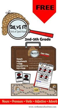 Solve It! Printable Parts of Speech Game