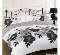 Dreamscene Pollyanna Black Floral White Reversible King Size Duvet Quilt Cover Bedding Set Our great value Dreamscene duvet set is made from polyester which is light weight and silky to touch. This easy-care bed linen is an essential everyday purchase for...
