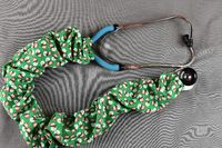 Stethoscope Cover- Christmas Snowman (Green Background) $7.99
