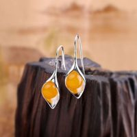 925 Silver Chalcedony Earrings / Natural Chalcedony Earrings / Dangle & Drop Earrings / Bohemian Earrings / Gifts for Mothers