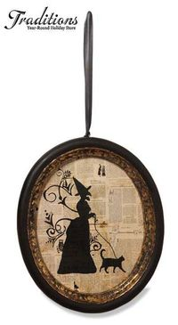 �˜† Silhouette Witch in a Frame :¦: Shop: Traditions Year-Round Holiday Store �˜†