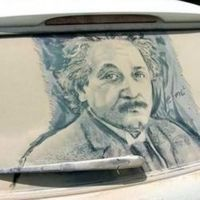 "Scott Wade creates memorable art by drawing on rear windows of dusty cars.."" More like I wish I could make"""