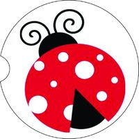 2 Absorbent Car Coasters, Lady Bug , Car Accessories for her, Auto Coaster, Coaster, Cup Holder Coaster, Gift For Her, For Him $14.00