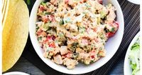 Santa Fe Chicken Salad {will swap out Greek yogurt for the sour cream} | A Dash of Sanity