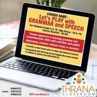 Let's play with grammar and speech is a 30 hour course conducted online for children between the ages 10 and 15. The course aims to teach English language focusing on grammar and communication outside the age old traditional methods.      The co...