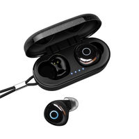 Ovevo Q65 Pro TWS bluetooth 5.0 Earphone Smart Touch IPX7 Waterproof Bilateral Call Stereo Headphone with Charging Box