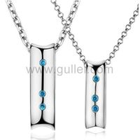 Gullei.com Custom Name Necklaces for Couples Sterling Silver