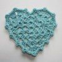 Granny Heart Pattern | Made these in red put on wreath with ribbons etc. Also cute hung in windows.