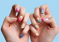Nail art that actually celebrates drips and blobs.